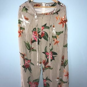 Airy floral pant
